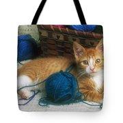 Golden Tabby Kitten Tote Bag