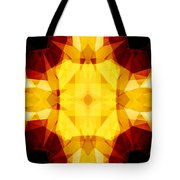 Golden Textured Triangles Tote Bag