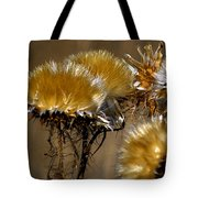Golden Thistle Tote Bag by Bill Gallagher