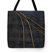 Golden Tracks Tote Bag