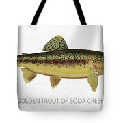 Golden Trout Of Soda Creek Tote Bag by Aged Pixel