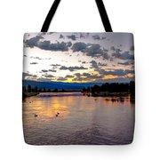 Golden Twilight Tote Bag