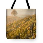 Golden Vineyard And Tree Tote Bag