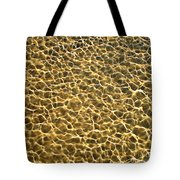 Golden Water Tote Bag