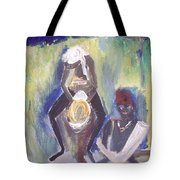 Golden Waterfall Music Tote Bag