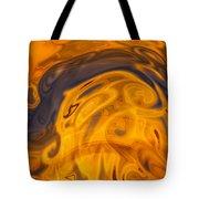 Golden Waves Of Blue Tote Bag