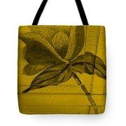 Golden Wood Flower Tote Bag