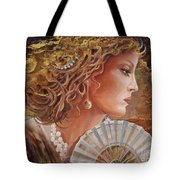 Golden Wood Tote Bag by Sinisa Saratlic