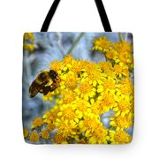Golden Yarrow And Visitor Tote Bag
