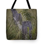 Goldenrod By The Fence Tote Bag