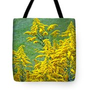 Goldenrod Flowers Tote Bag