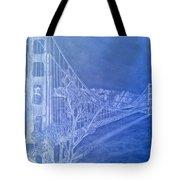 Golder Gate Bridge Inverted Tote Bag