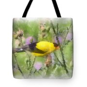 Goldfinch #3 By Kerri Farley Tote Bag