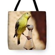 Goldfinch Contemplating 031015ac Tote Bag
