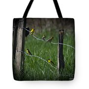Goldfinch Gathering Tote Bag