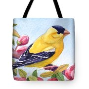 Goldfinch In A Crab Apple Tree Tote Bag