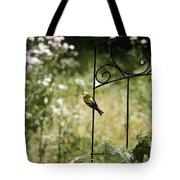 Goldfinch On The Lookout -19 Tote Bag