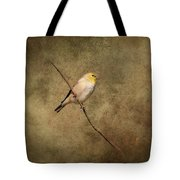Goldfinch Portrait Tote Bag