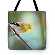 Goldfinch With Rosy Shoulder - Digital Paint IIi Tote Bag