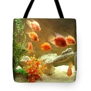 Goldfish At The Chinese Restaurant  Tote Bag