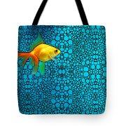 Goldfish Study 3 - Stone Rock'd Art By Sharon Cummings Tote Bag