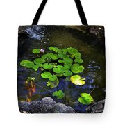 Goldfish With Lily Pads Tote Bag
