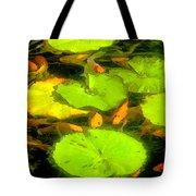 On Goldfish Pond Artwork Tote Bag
