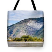 Goldrush Town Dawson City From Yukon River Canada Tote Bag