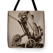 Golf Bag In The Grass  Tote Bag
