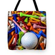 Golf Ball And Tees Tote Bag