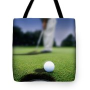 Golf Ball Near Cup Tote Bag by Darren Greenwood