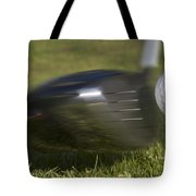 Golf Ball On Tee Hit By Driver Tote Bag