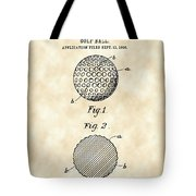 Golf Ball Patent 1906 - Parchment Tote Bag