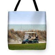 Golf Cart At Kiawah Island Golf Course Tote Bag