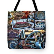Golf Cart Collage Tote Bag
