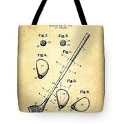 Golf Club Patent Drawing From 1910 - Vintage Tote Bag