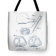 Golf Club Patent Drawing From 1926 - Blue Ink Tote Bag