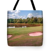 Golf Course Beautiful Landscape On Sunny Day Tote Bag