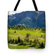 Golf Course Riederalp Valais Swiss Alps Switzerland Tote Bag