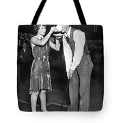 Golf Player Gets Coffee Boost Tote Bag