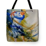Golf Player Tote Bag
