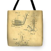 Golf Sand Wedge Patent On Aged Paper Tote Bag