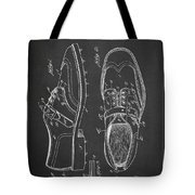 Golf Shoe Patent Drawing From 1927 Tote Bag