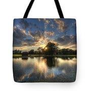 Golfcourse Sunset Tote Bag