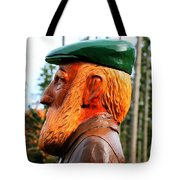 Golfer Profile Tote Bag