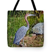 Goliath Heron By Water Tote Bag