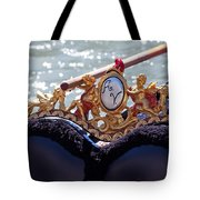 Gondola Bench Seat With Cherub Decoration Venice Italy Tote Bag