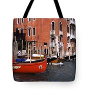 Gondolas In A Canal, Grand Canal Tote Bag