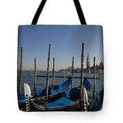 Gondolas In The Bacino Di San Marco Tote Bag