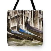 Gondolas-in-waiting   Venice Tote Bag